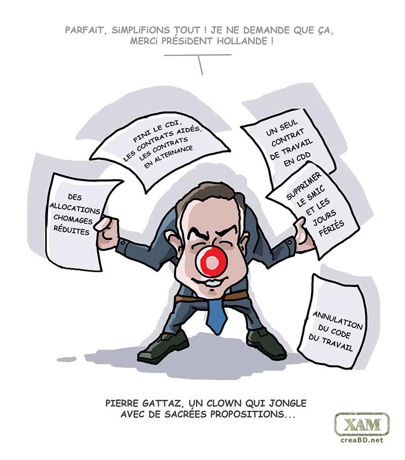 Pierre Gattaz, un clown pas très marrant